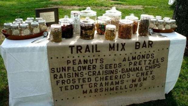 Boys Camping Birthday Party Trail Mix Bar