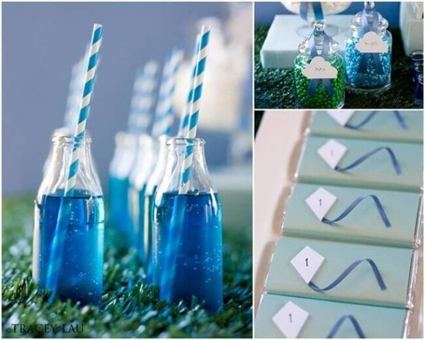 Boys Kite Themed Birthday Party Drink Food Ideas