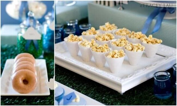 Boys Kite themed Birthday Party Popcorn party food