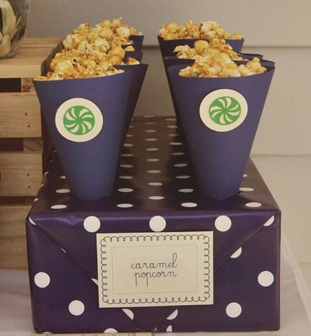 Boys Preppy Pinwheel Party Popcorn Food