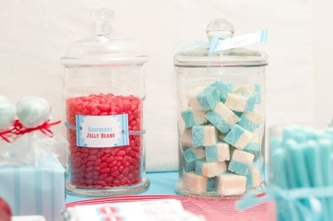 Boys Train Themed Birthday Party Candy Treats