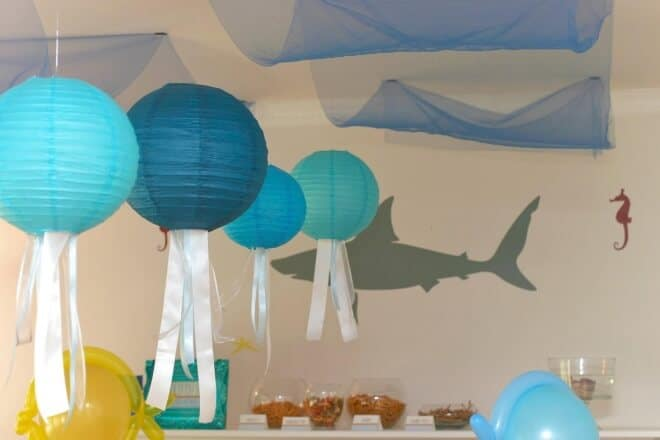 Boys Under the sea party room decorations