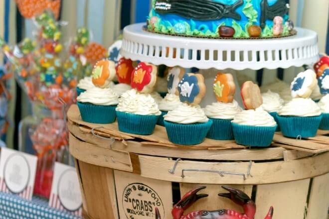 Under the Sea Birthday Party Cupcake Stand