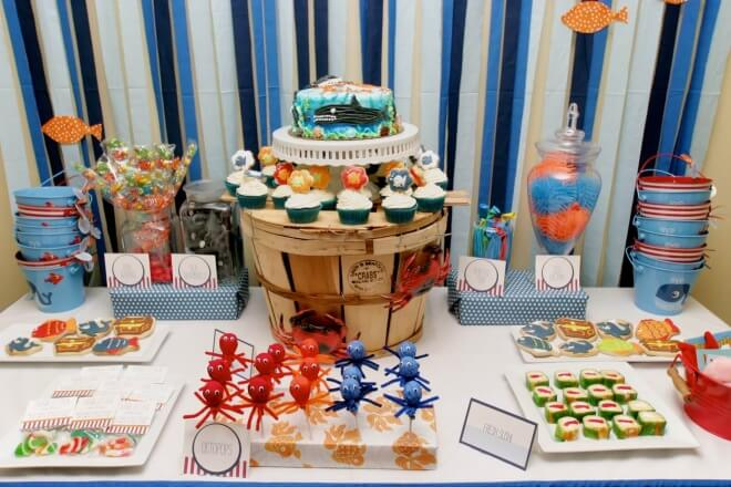 Under the Sea Party Dessert Table