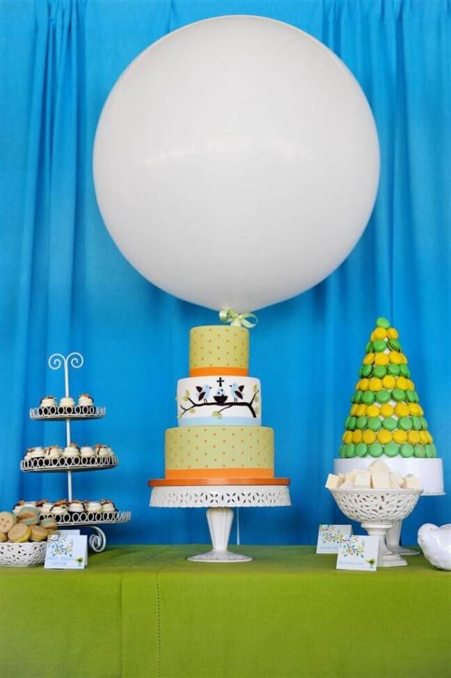 Boys Baptism Party Dessert table