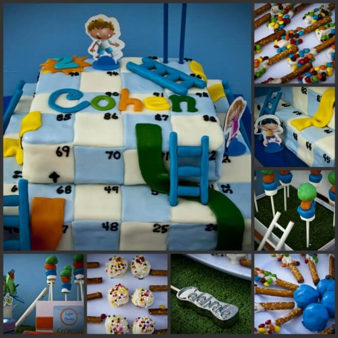 Boys Chutes and Ladders Themed Birthday Cake Party Food