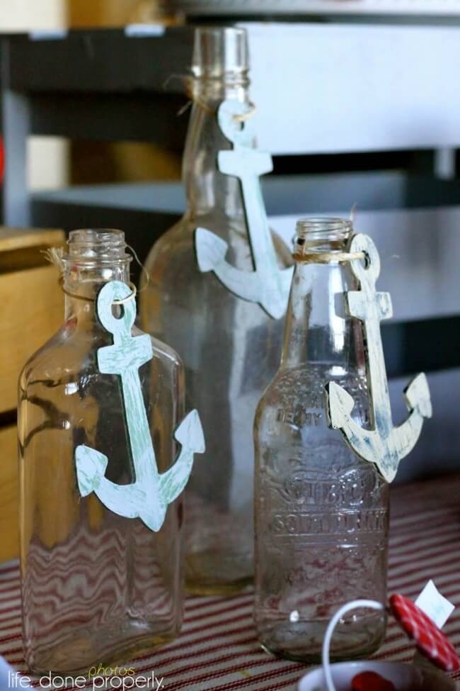 Boys Nautical Baby Shower Jar Decoration Ideas