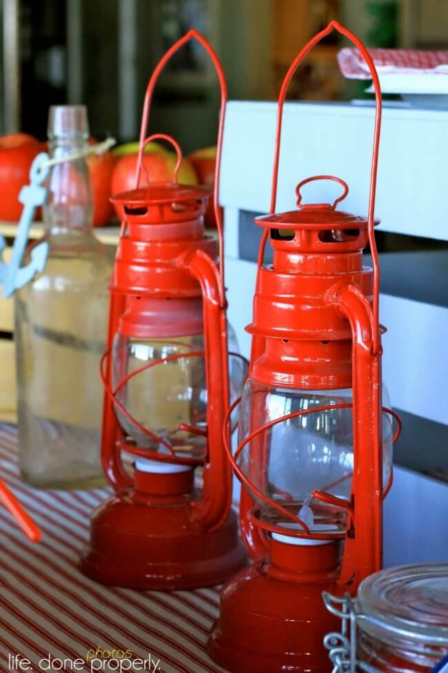 Boys Nautical Baby Shower Lantern Decoration ideas