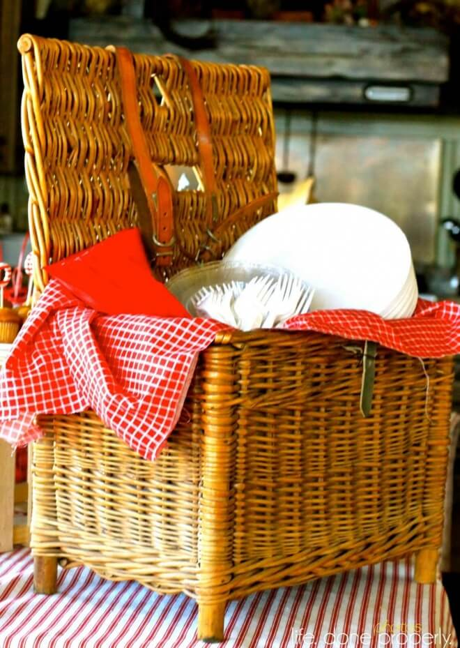 Boys Nautical Baby Shower Picnic Basket
