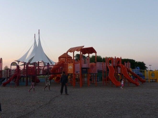 Chutes and Ladders playground