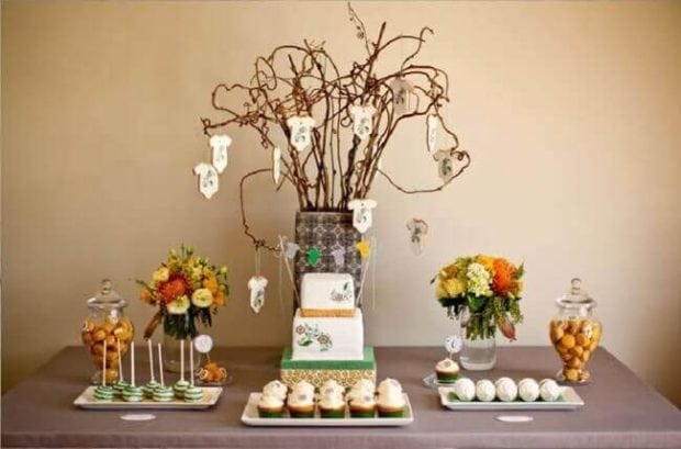 Flawless Baby Shower Dessert Table