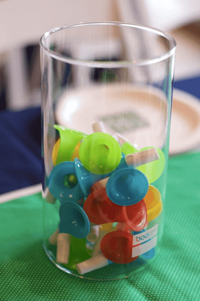 Boys Sing a Long themed Birthday Party Centerpieces