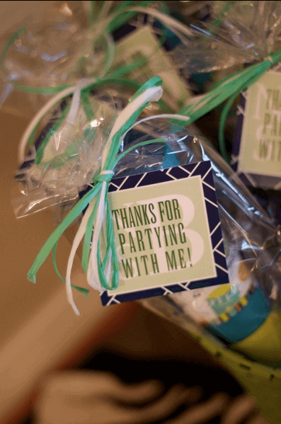 Boys Sing a long themed Birthday party favors