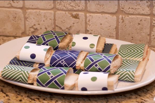 Boys Sing a Long themed Birthday Party Sandwich Food Ideas