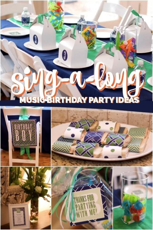 Sing A Long Music Themed Birthday Party