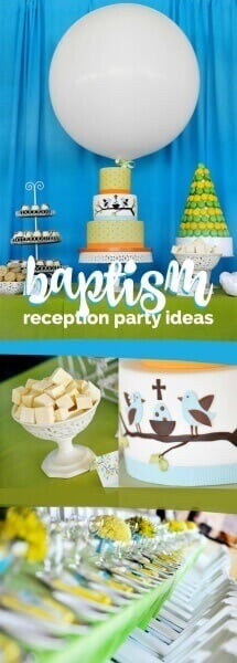 Baptism Reception ideas