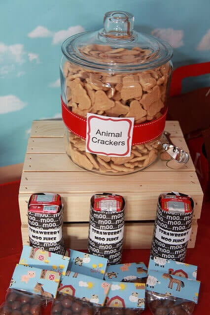 Boys Barnyard Birhday Party Food Snack Ideas