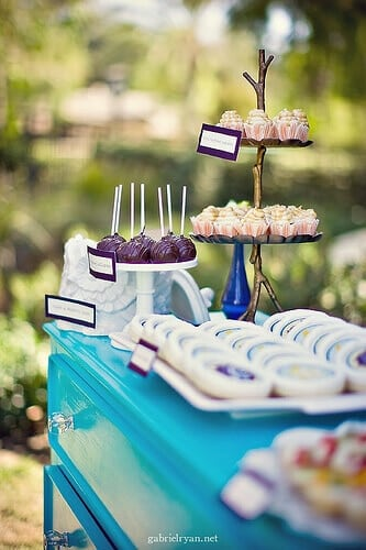 Vintage Boy Owl themed baby shower food table ideas