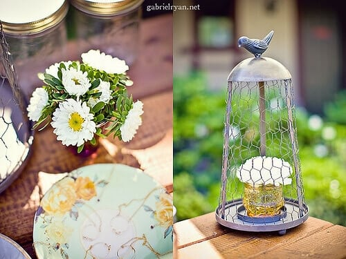 Vintage Owl Themed Baby SHower Table Decoration ideas