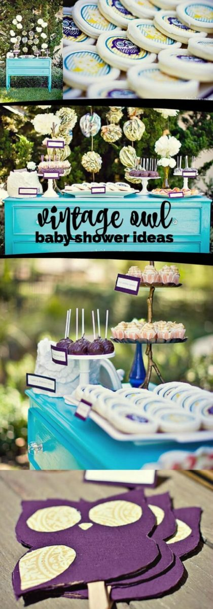 Vintage Owl Themed Boy S Baby Shower Spaceships And Laser Beams