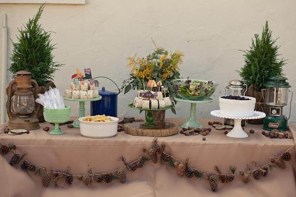 Boys Camp Out Birthday Party Dessert Table Ideas