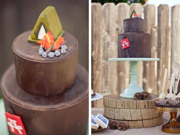 Boys Camp Out Birthday Party Cake Ideas