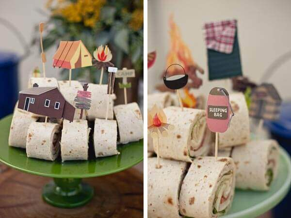 Boys Camp Out Birthday party Food Ideas