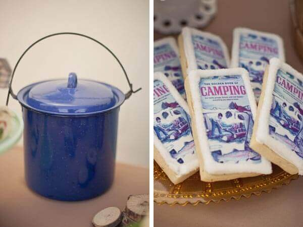 Boys Camp Out Party Cookies