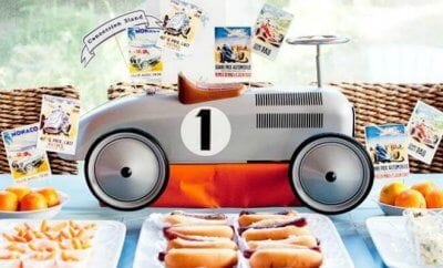 Vintage Racing Race Car Birthday Party