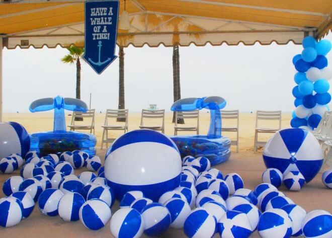 Boys Beach Themed Birthday Party Beach Ball pit