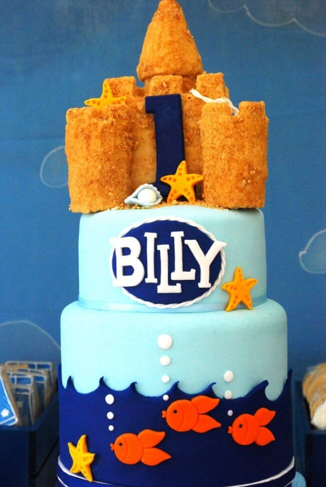 Boys Beach Themed Birthday Party Cake
