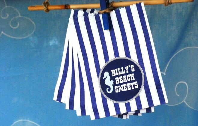 Boys Beach Themed Birthday Party Favor Treat Bags