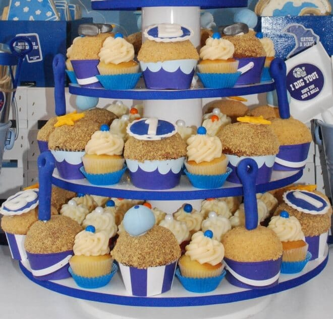Boys Beach Themed Birthday Party Food Cupcake Ideas