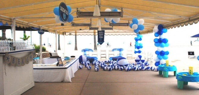 Boys Beach Themed Birthday Party Room Decorations