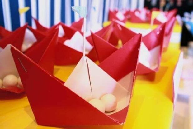 Boys Nautical Birthday Party Paper Boats