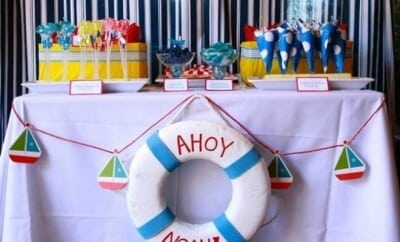 Boys Preppy Nautical First Birthday