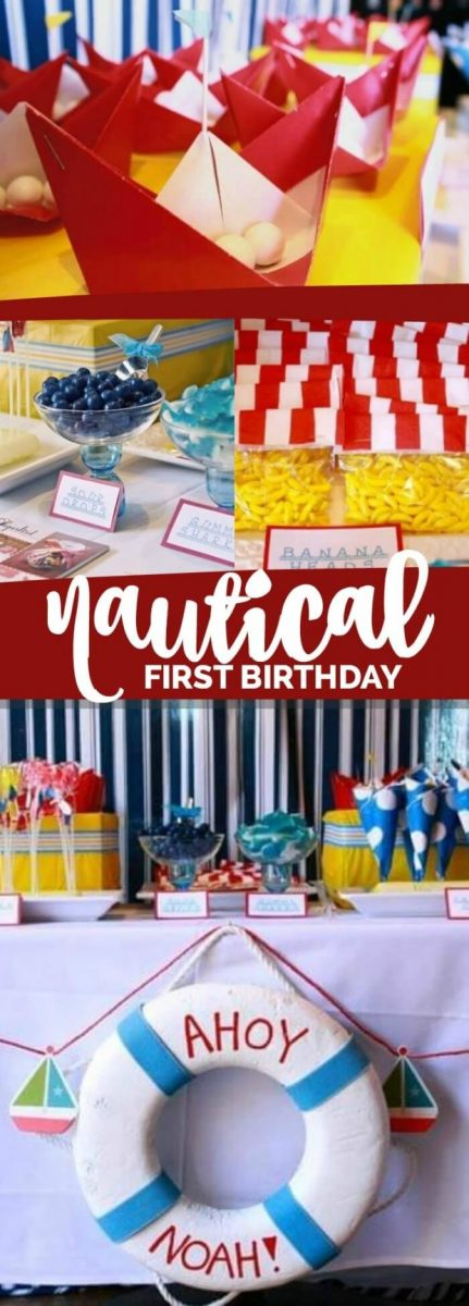 Boys Preppy Nautical First Birthday