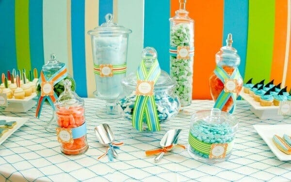 Boys Summer Beach Party Candy Food Ideas