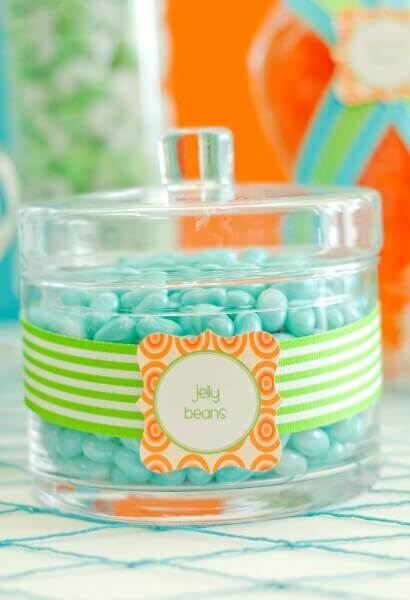 Boys Summer Beach Party Candy Jar Ideas