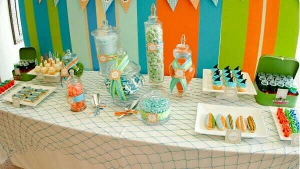 Boys Summer Beach Party Dessert Table