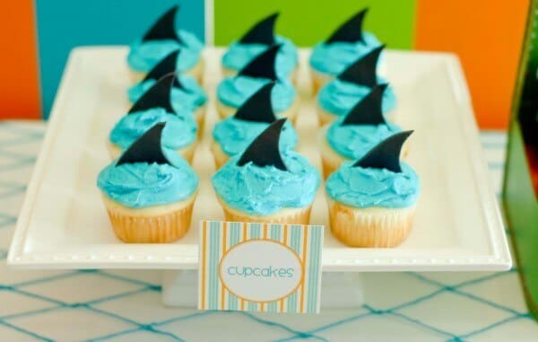 Boys Summer Surf Beach Party Cupcakes