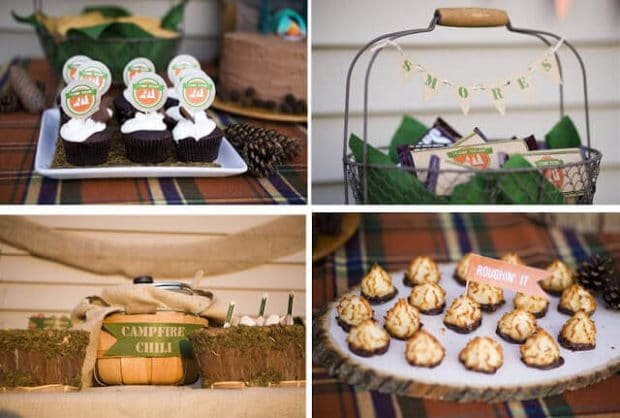 Boys Outdoor Camping Birthday Party Desserts