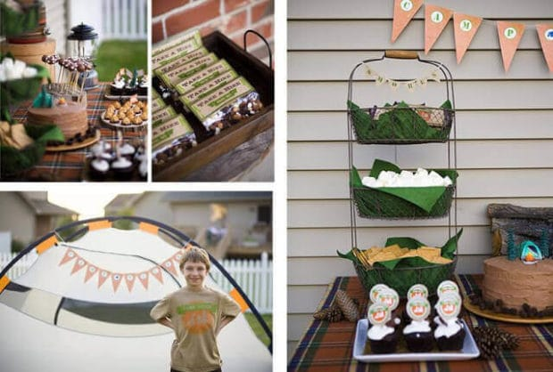 Boys Outdoor Camping Birthday party ideas