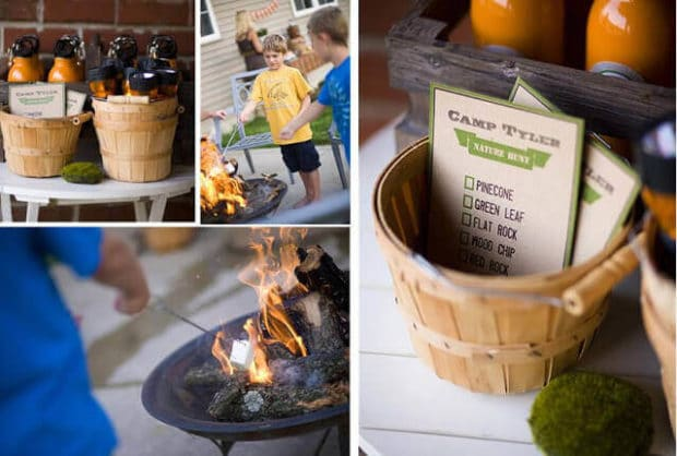 Boys Outdoor camping Birthday party Activities