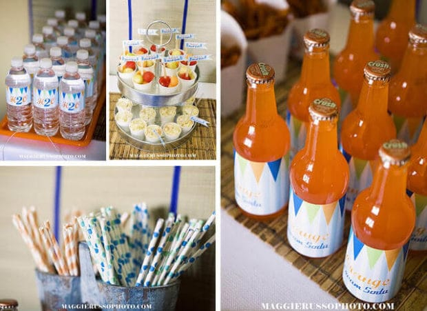 Boys Surfing Themed Birthday Party Drink Ideas