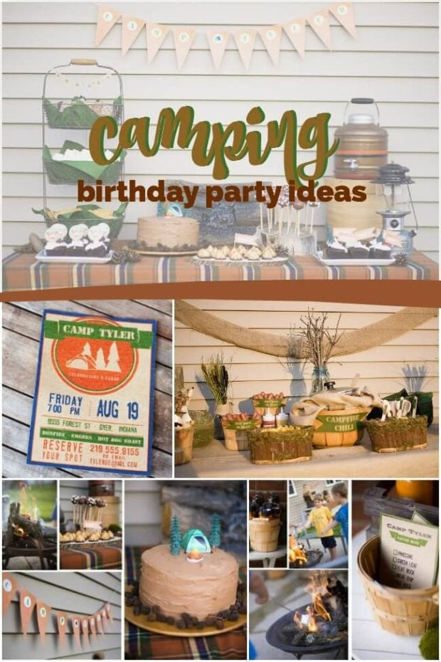 An Awesome Outdoor Camping Birthday Party - Spaceships and ...