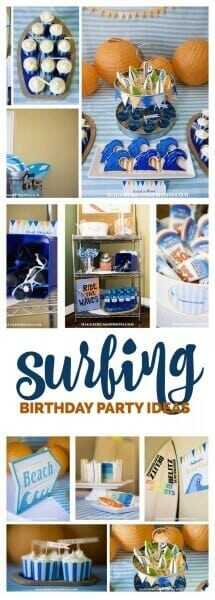 Boys Surfing Themed Birthday Party