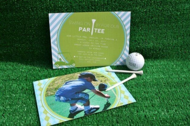 Boys Golf Birthday Party Invitation