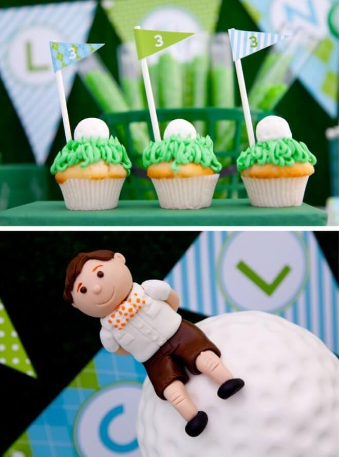 Boys Golf Themed Birthday Party Cake Food Ideas