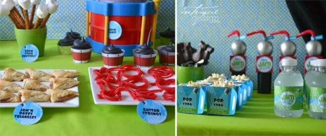 Boys Music Themed Birthday Party Jam Session Party Food Ideas